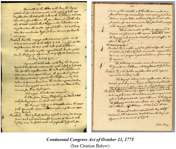 act-of-oct-13-1775