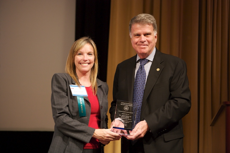 Department of Agriculture receives the Archivst Achievement Award
