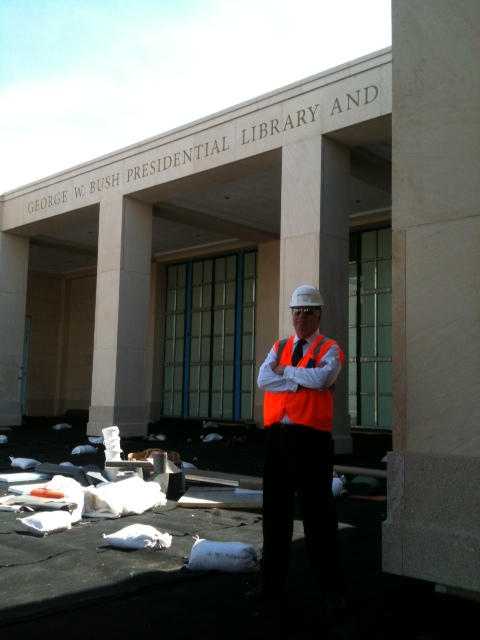 AOTUS at the George W Bush Library construction site