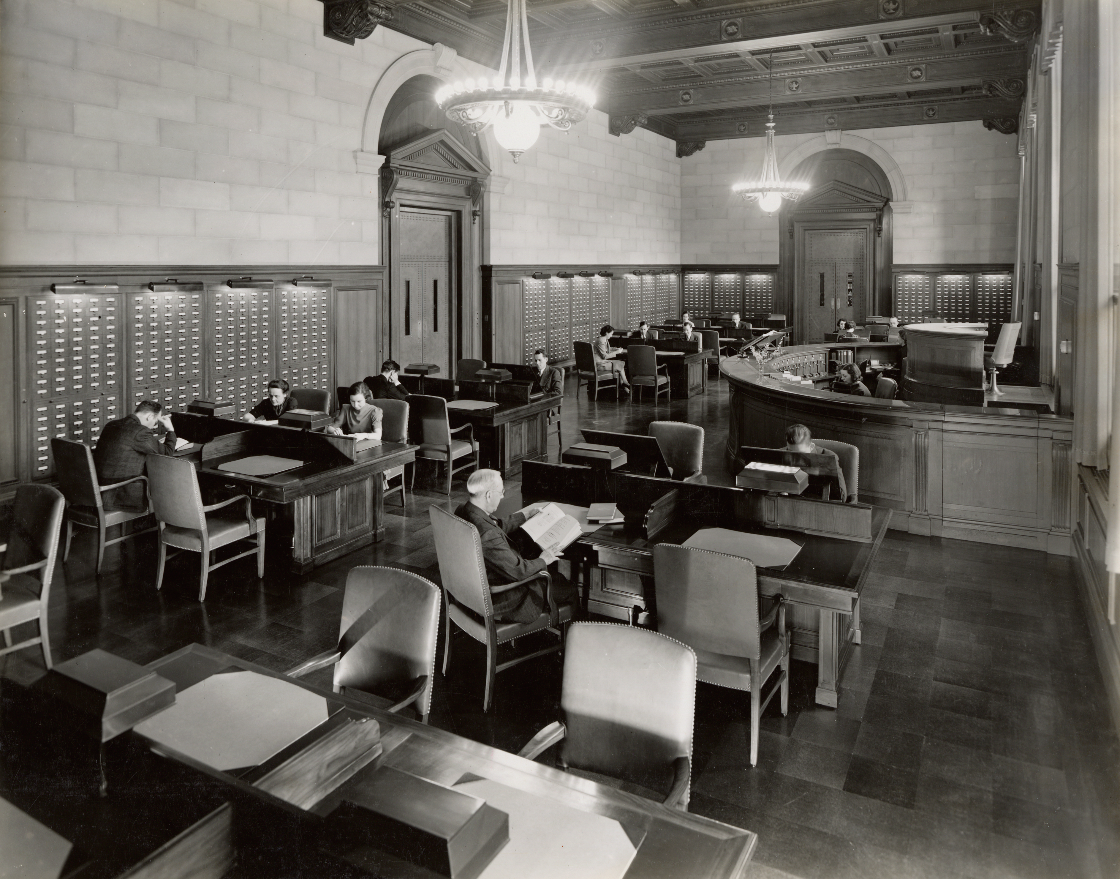 Central Research Room at National Archives Building in Washington DC