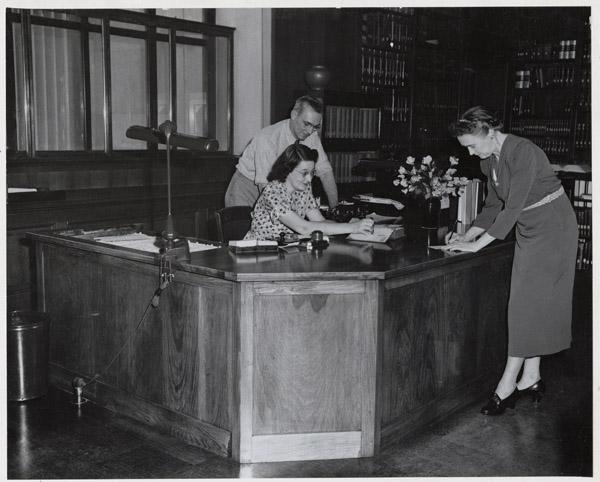 National Archives desk