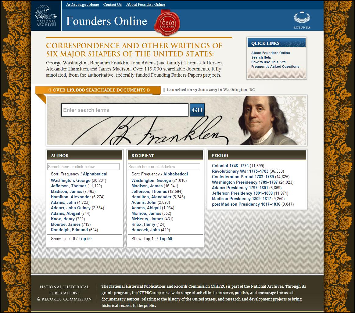 founders online website