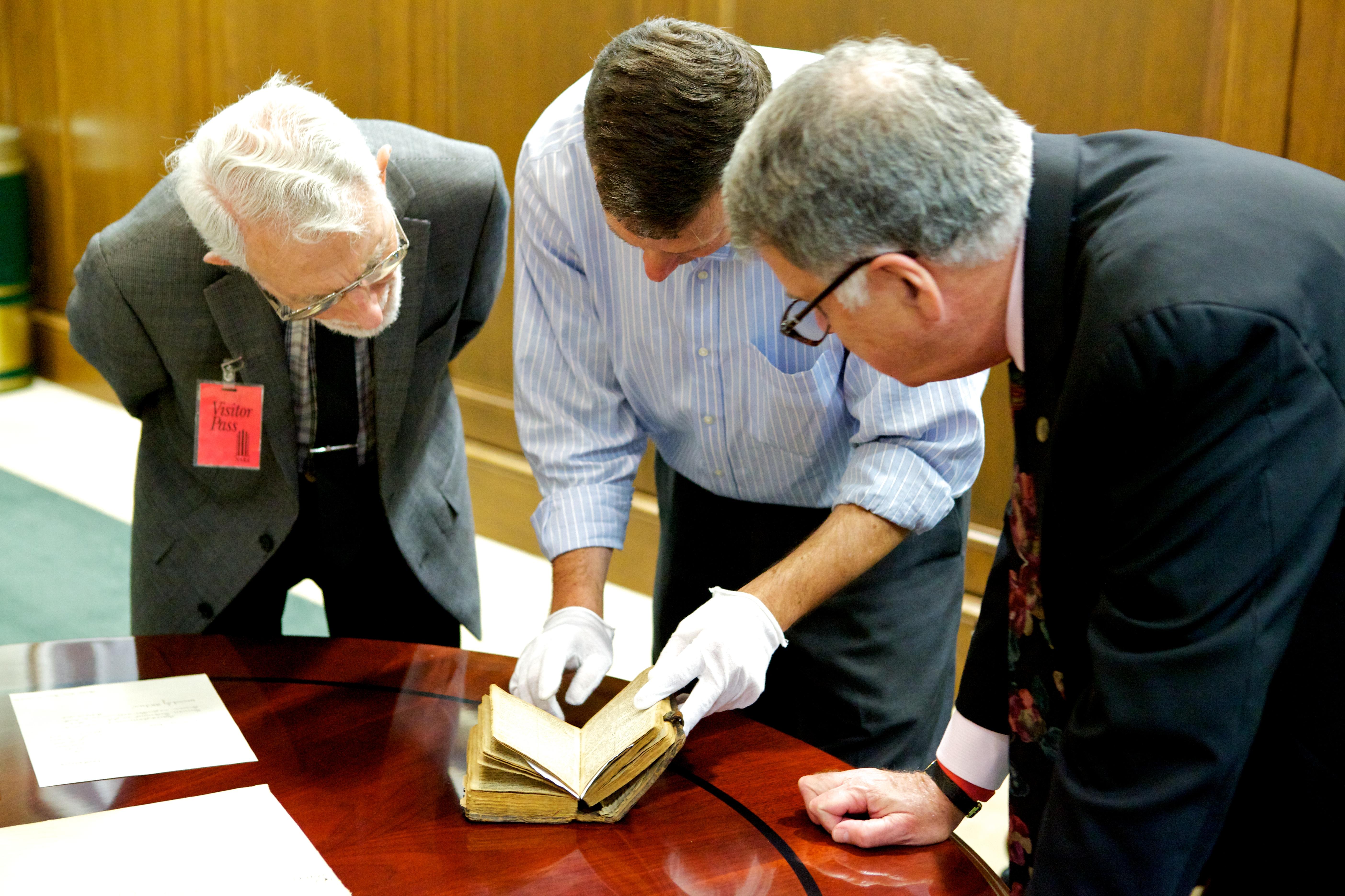 Staff Swearing In with Rev War BibleStaff Swearing In with Rev War Bible