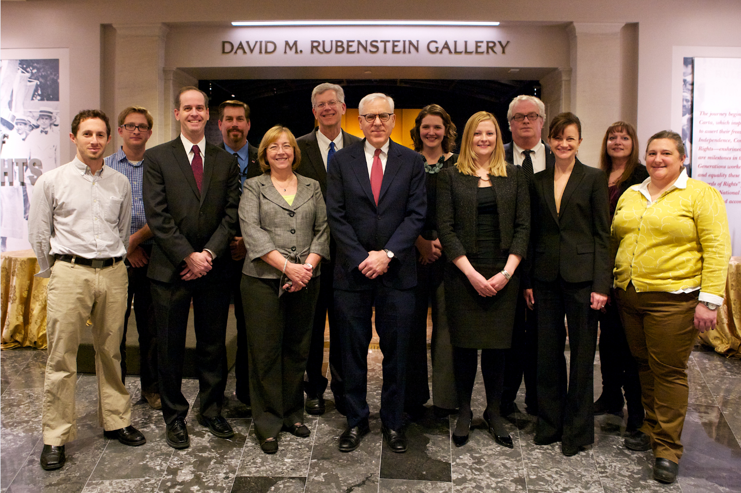 NARA staff with David M. Rubenstein