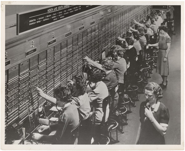 Women Working at a Switchboard
