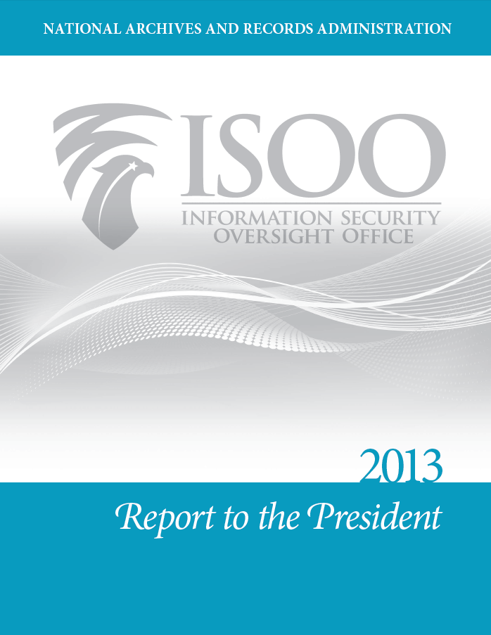 ISOO 2013 Report to President