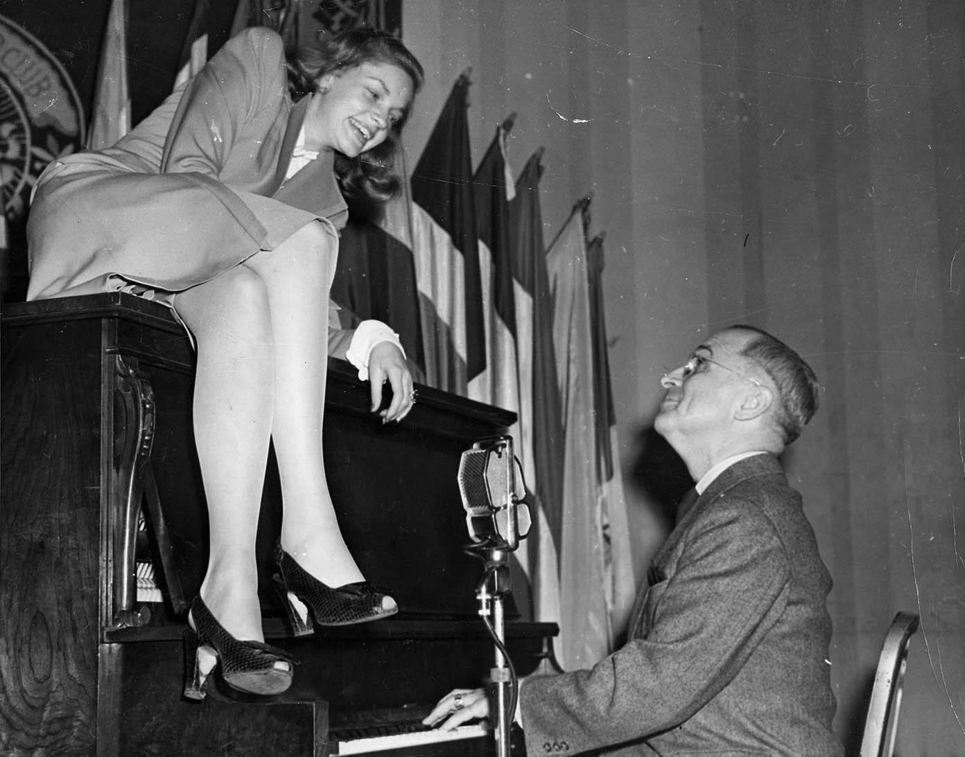 Lauren Bacall and Harry Truman