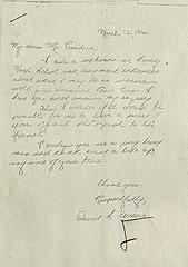 David Ferriero's 1961 letter to President Kennedy