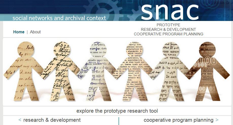 SNAC homepage