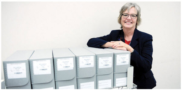 Sheryl Shenberger, Director of the National Declassification Center. Photo courtesy of the Gulf Times