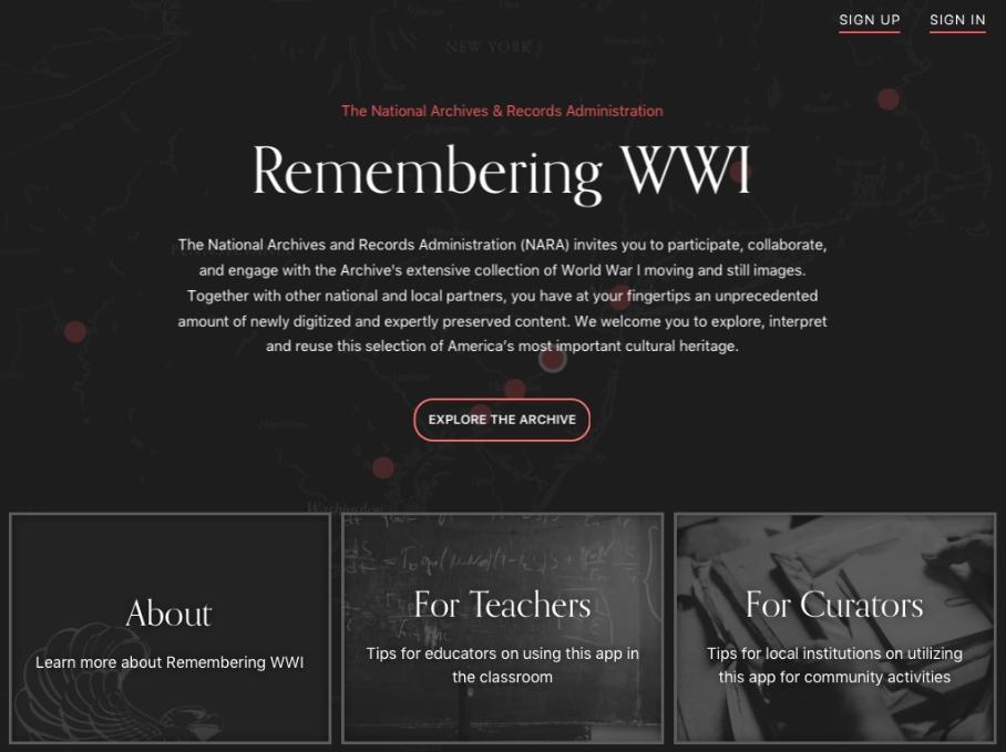 WWI app screenshot 1