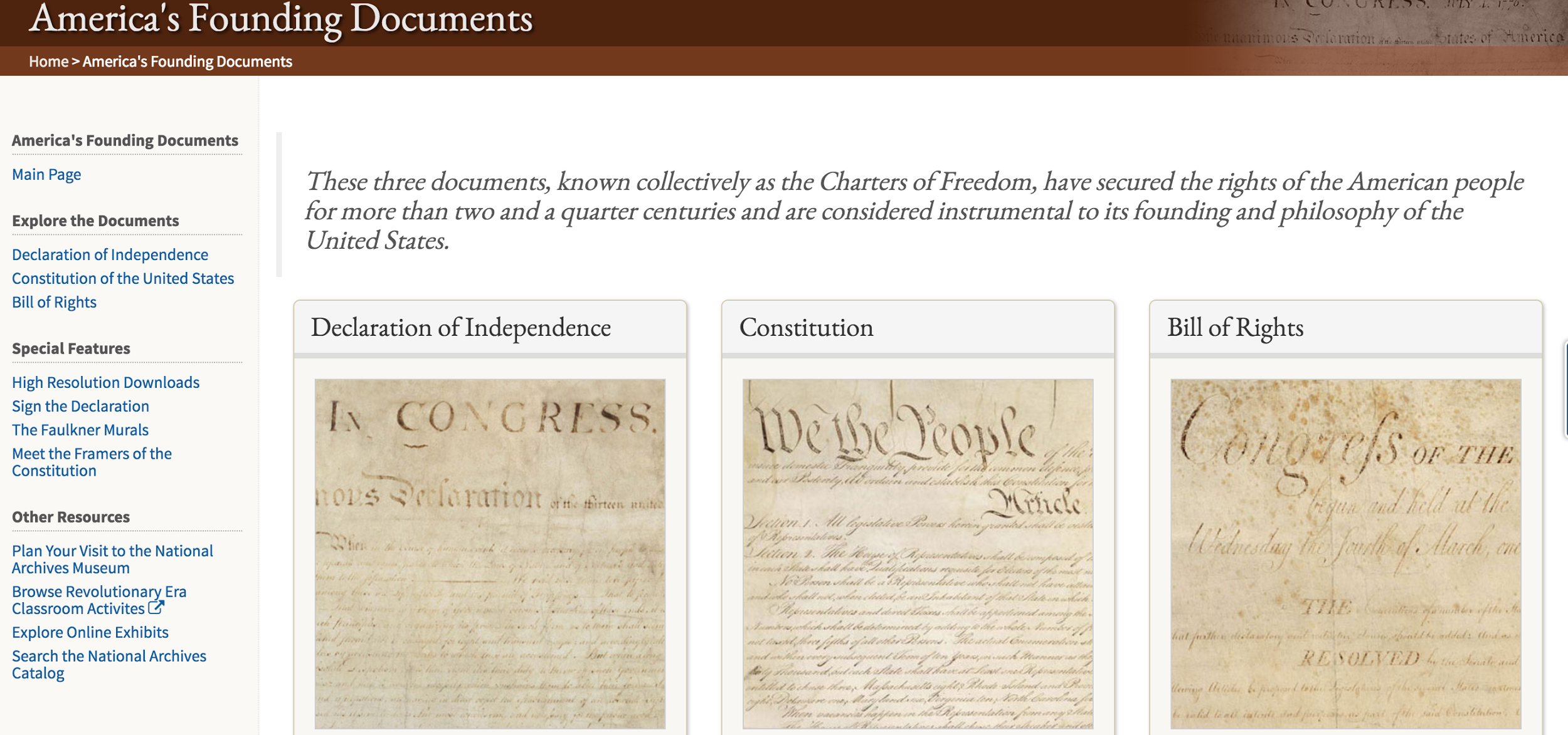 Refreshed look for America's Founding Documents