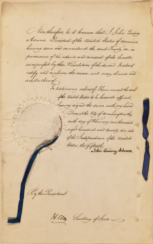 Sample image from the Ratified Indian Treaty 133: Arikara (Ricara) - Arikara Village, July 18, 1825