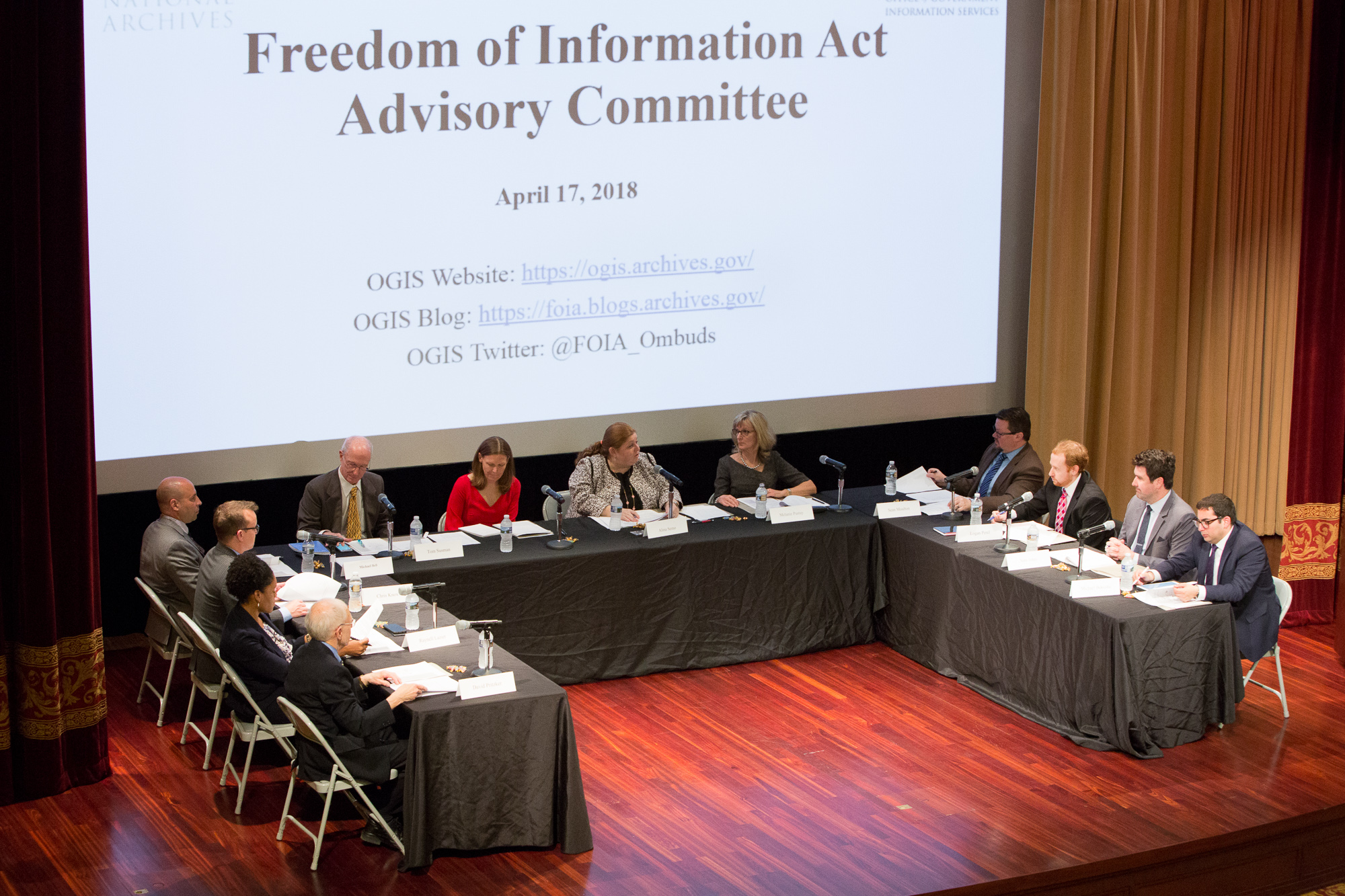 April 2018 Freedom Of Information Act Advisory Committee